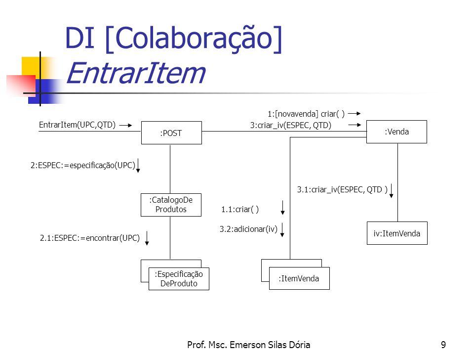 DI [Colaboração] EntrarItem